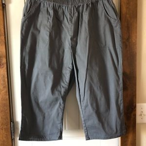 Woman Within Gray Capris - Stretchy - Size 20 WP